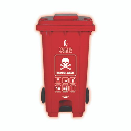 Penguin Hygienic Recycle Bin 240L (Red) - Harmful Waste