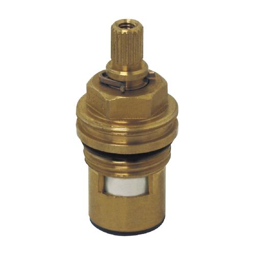 """Showy 1/2"""" X-Knob Q/T brass cartridge (thread) #6271"""
