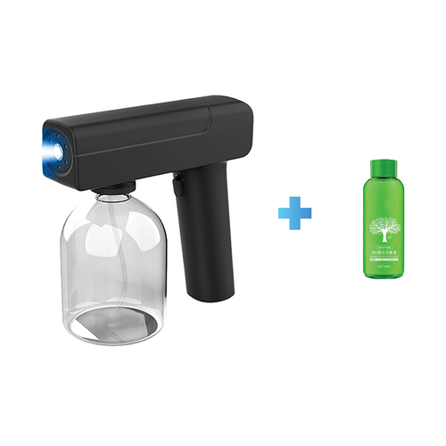 Electrical UV light disinfect spray gun black + Nanometer air purification solution 100ml