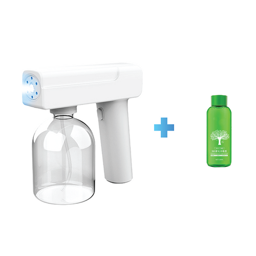 Electrical UV light disinfect spray gun white + Nanometer air purification solution 100ml