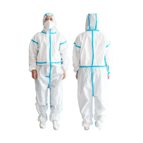 Disposable protective coverall white free size
