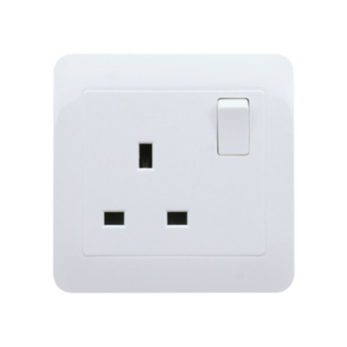 My Home Diy White 13A 1 Gang Switch Socket