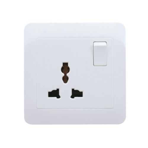 My Home Diy White  1 Gang Universal Switch Socket