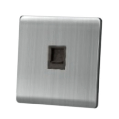 My Home Diy Silver 1 Gang Telephone Socket