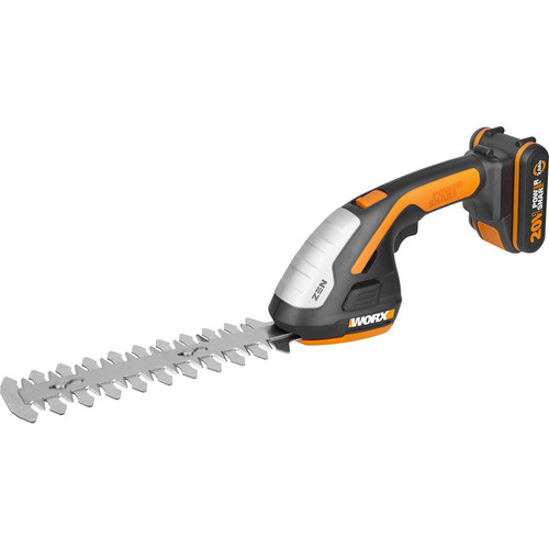 "Worx 20V Cordless 4"" Shear and 8"" Shrubber Trimmer WG801E"