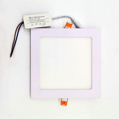 Conceal square led panel light 18w 6000k