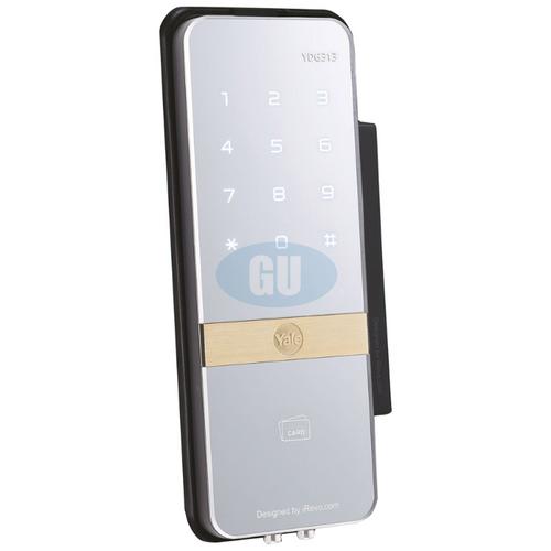 YALE DIGITAL RIM LOCK FOR GLASS DOOR YDG313