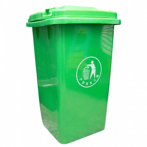 Pvc garbage bin with wheel and paddle