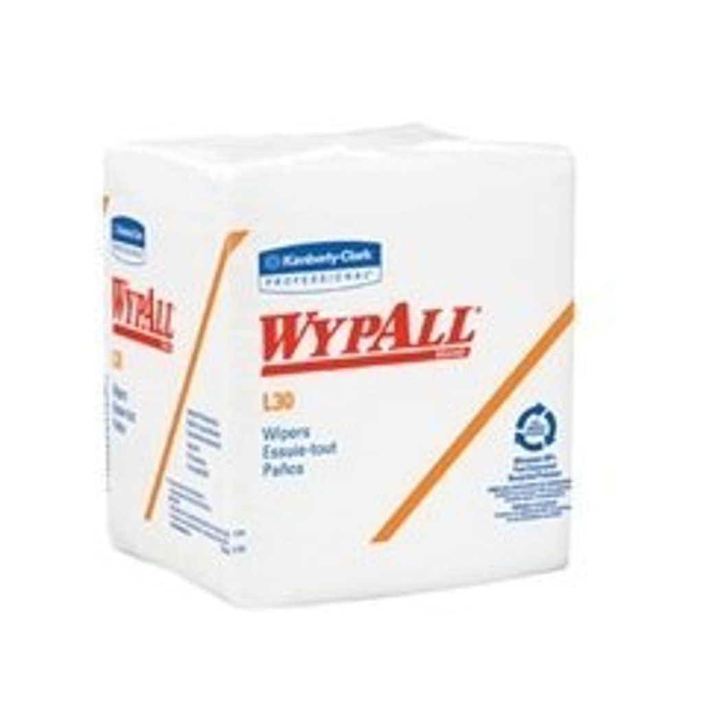 """Get White 1/4-Fold Wipes, 12.5"""" x 12"""", 12 packs/case L05812 at Harmony"""