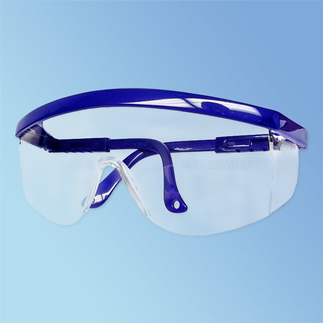 iNOX Guardian 1711 C Safety Glasses, Clear Lens, Blue Frame