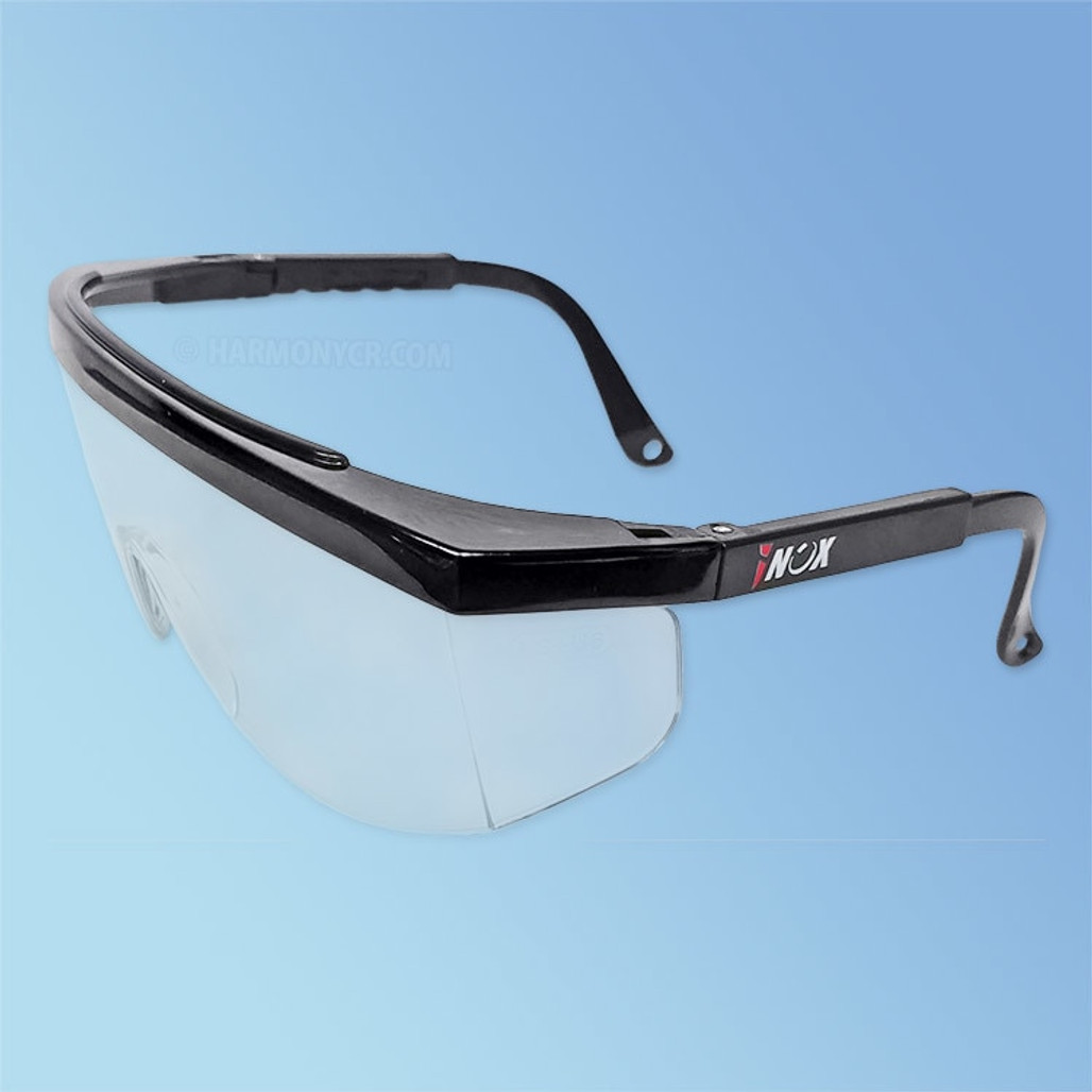 iNOX Guardian 1710 Safety Glasses, Clear Lens, Black Frame
