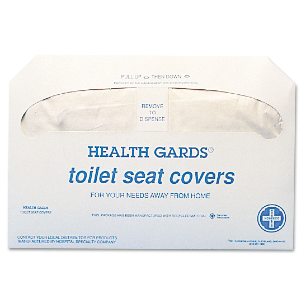 Health Gards Toilet Seat Covers, 250 pack, 20 packs/case | Harmony Lab and Safety Supplies