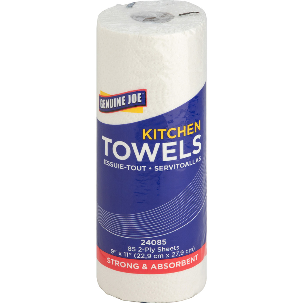 Get Genuine Joe 2 Ply Paper Towel Rolls, 85 sheets/roll, 30/case L6272 at Harmony Lab & Safety Supplies.