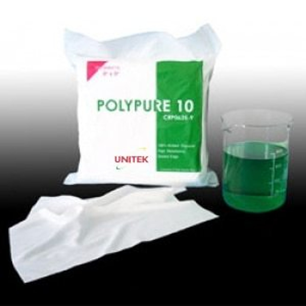 """UNITEK PolyPure 10 Class 10 Cleanroom Polyester Wipes with Ultrasonic Sealed Edges   Cleanroom ready! Choose your size of 4"""", 6"""", 9"""", or 12"""".   CRP0635   Harmony Lab and Safety Supplies"""