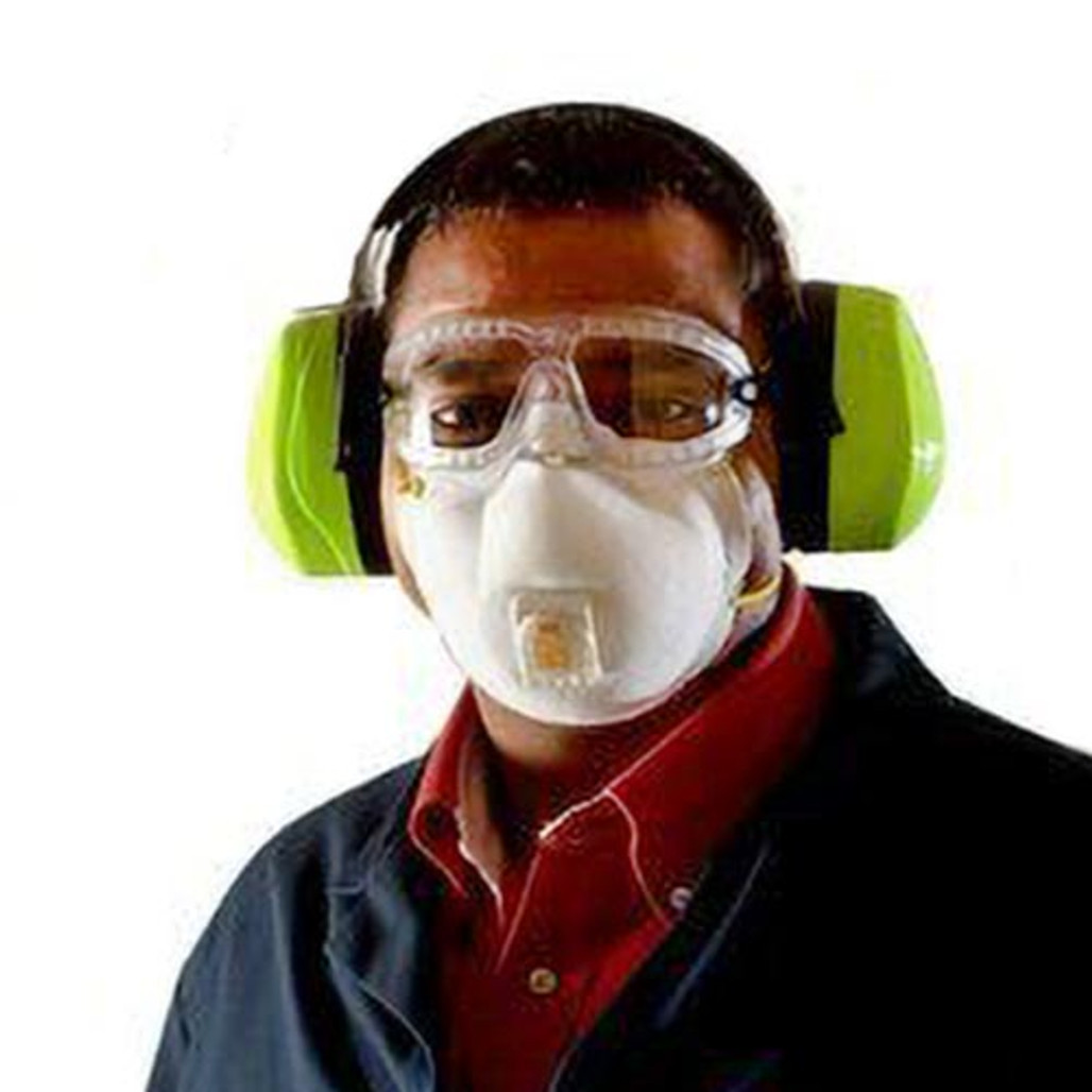 Get 3M 8511 N95 Respirator with Valve, 10/box LB8511 at Harmony (back view)