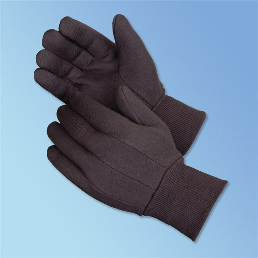 Get Men's or Ladies Jersey Glove, 8 oz, Brown Clute Pattern, 12 pair LIB4503Q at Harmony