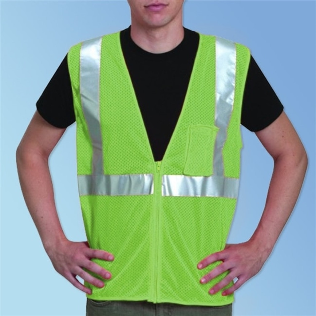 Get HivizGard Class 2 Mesh Safety Vest, Lime Green LBC16002G at Harmony