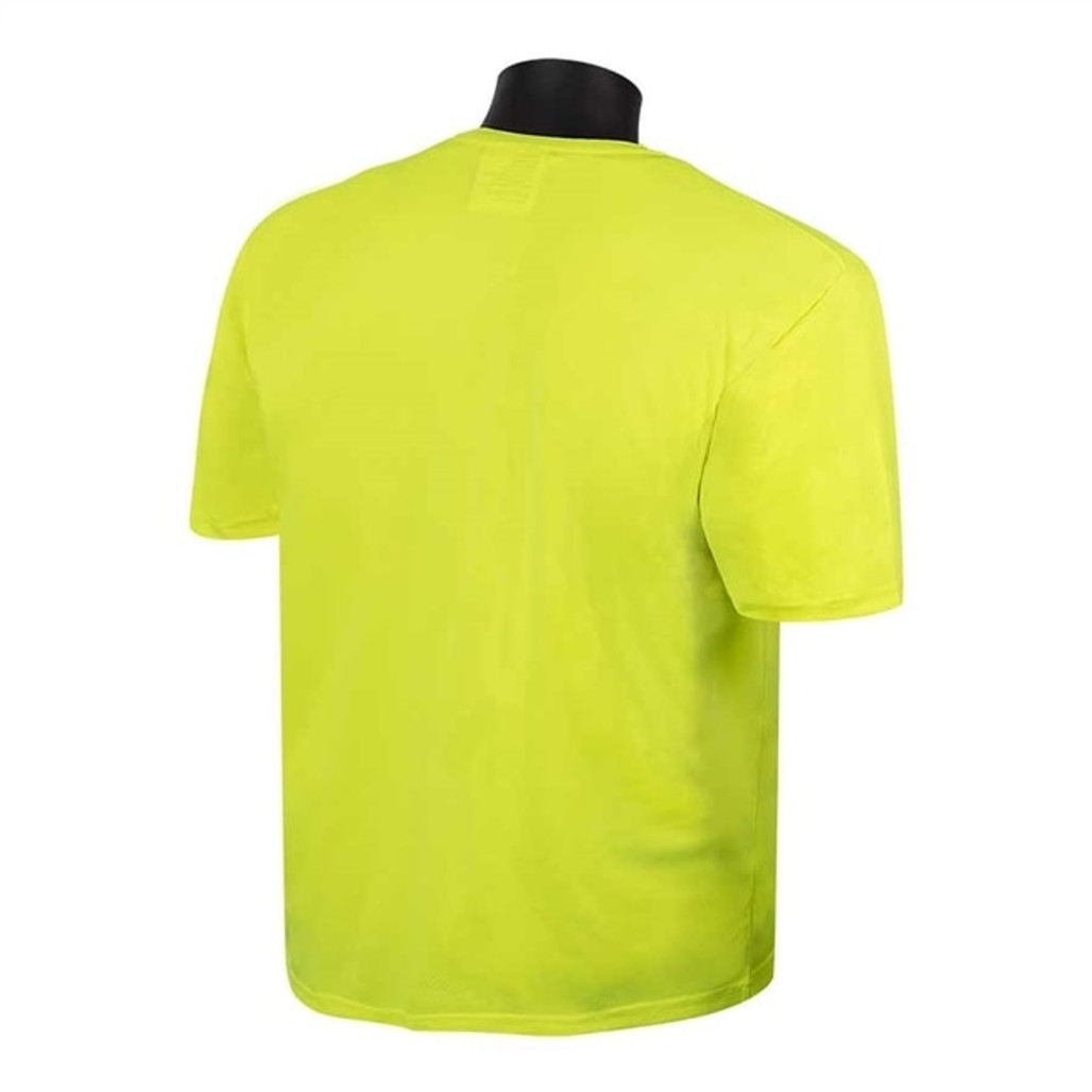 Fluorescent Lime Green Mesh T-Shirt, Short Sleeve, each | Harmony Lab and Safety Supplies