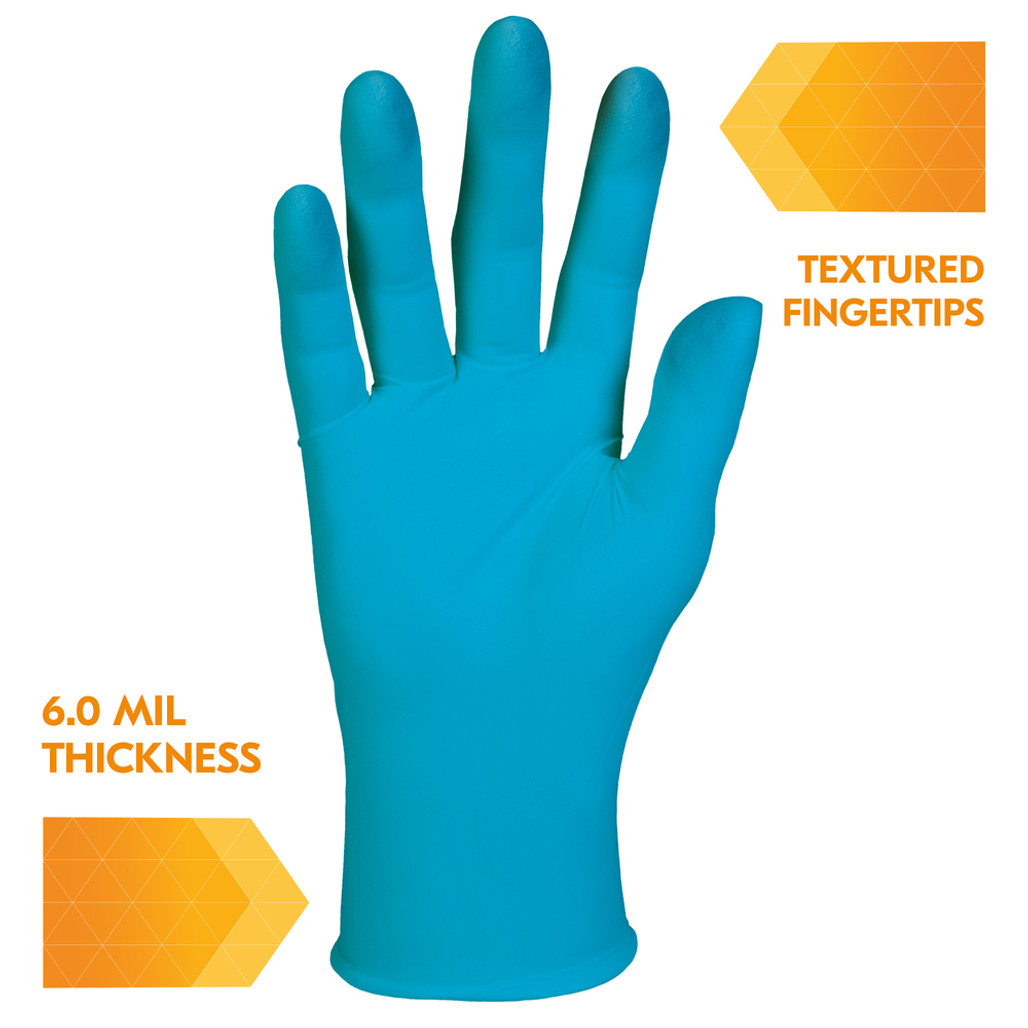 Kleenguard G10 Blue Nitrile Food Service/General Purpose Gloves, 6 mil, Powder Free   Harmony Lab and Safety Supplies