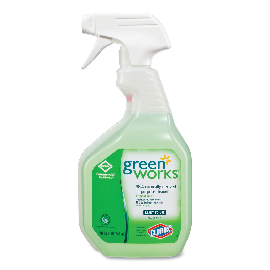 Green Works Natural All-Purpose Cleaner Spray, 32oz., 12/case   Harmony Lab and Safety Supplies