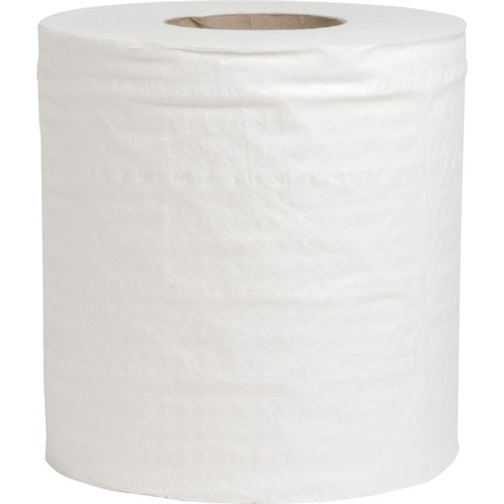 """Get Special Buy Center Pull White Towel, 4.60"""" x 10"""", 600 Sheets per roll, 6 rolls/case at Harmony Lab & Safety Supplies."""