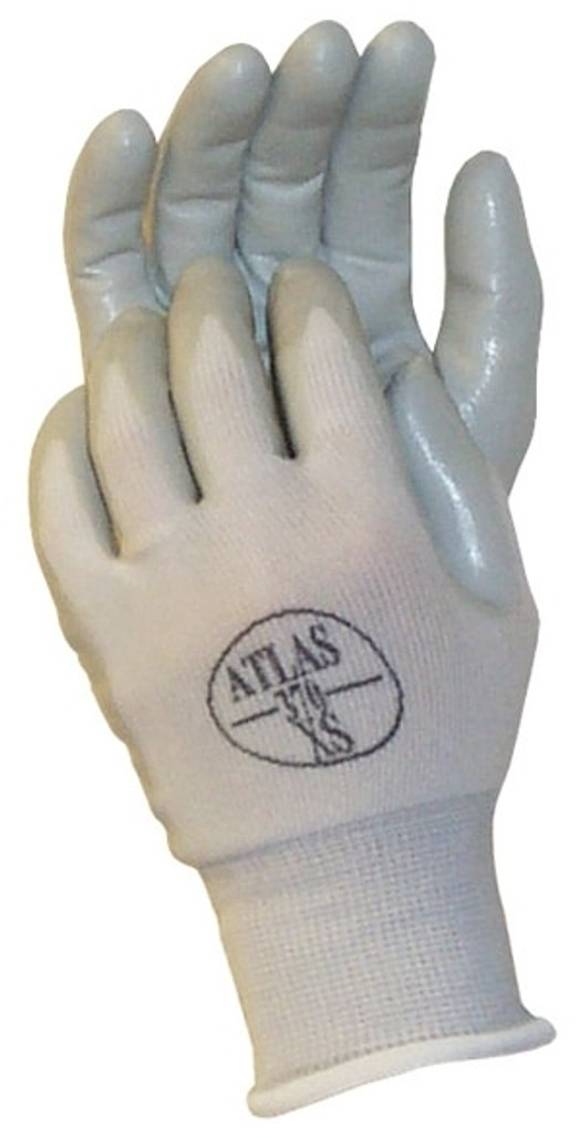 Get Showa Atlas 370 Assembly Grip Nitrile Coated Glove, Gray/White, 12/pair LIB370 at Harmony