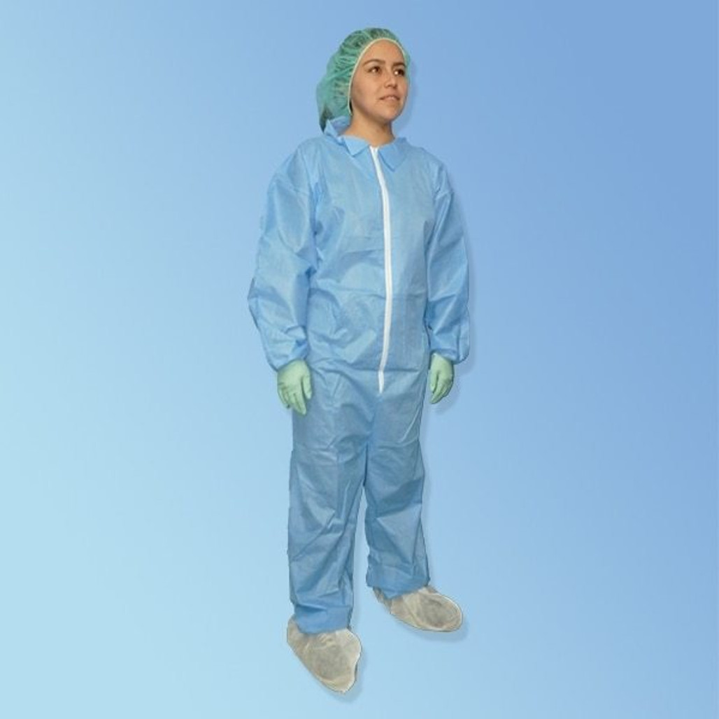 Get ProGard Blue SMS Coveralls, elastic wrist & ankle, 25/cs T180-SMS-BE at Harmony