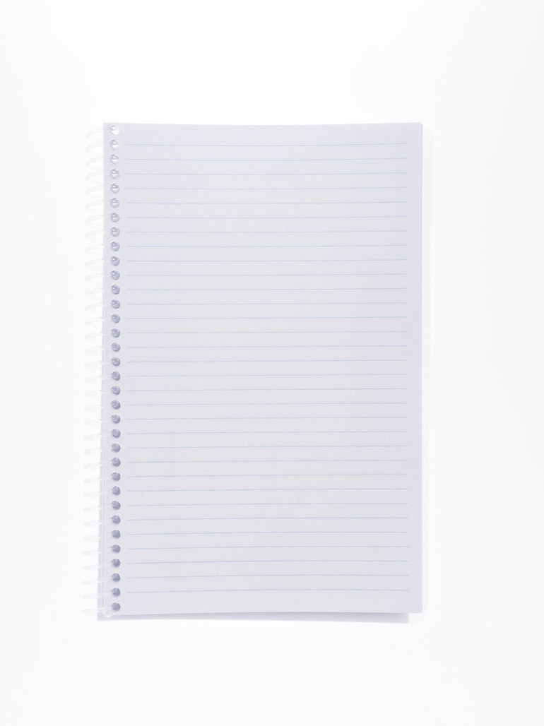 """Get Cleanroom Notebook, 28#, 5.5"""" x 8.5"""" Ruled, 100 Pages, ea PNB58 at Harmony Lab & Safety Supplies"""