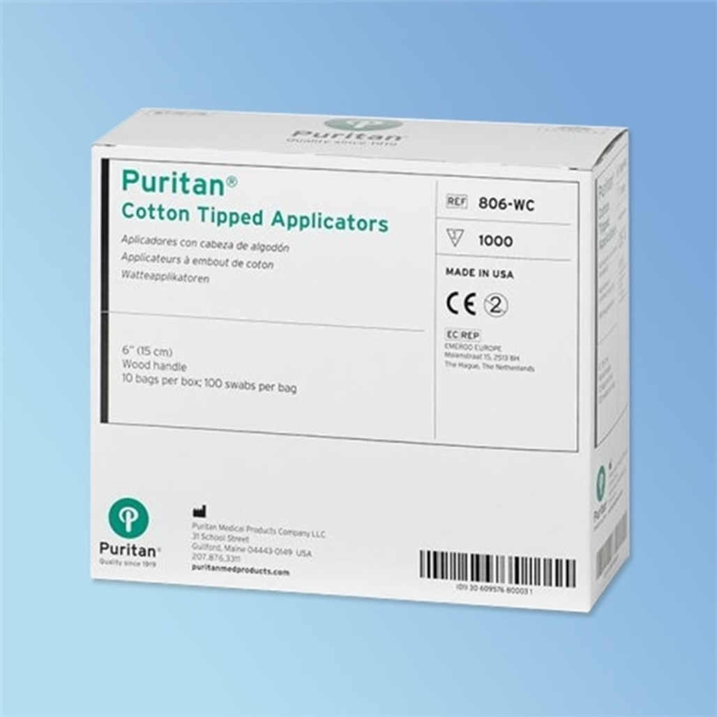 Puritan Cotton Swab, 6 in. Wood Shaft, Regular Tip   Harmony Lab and Safety Supplies