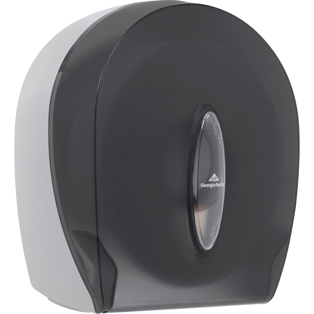 Georgia-Pacific 1-Roll Jumbo Jr. High Capacity Toilet Paper Dispenser, Smoke Gray, each   Harmony Lab and Safety Supplies