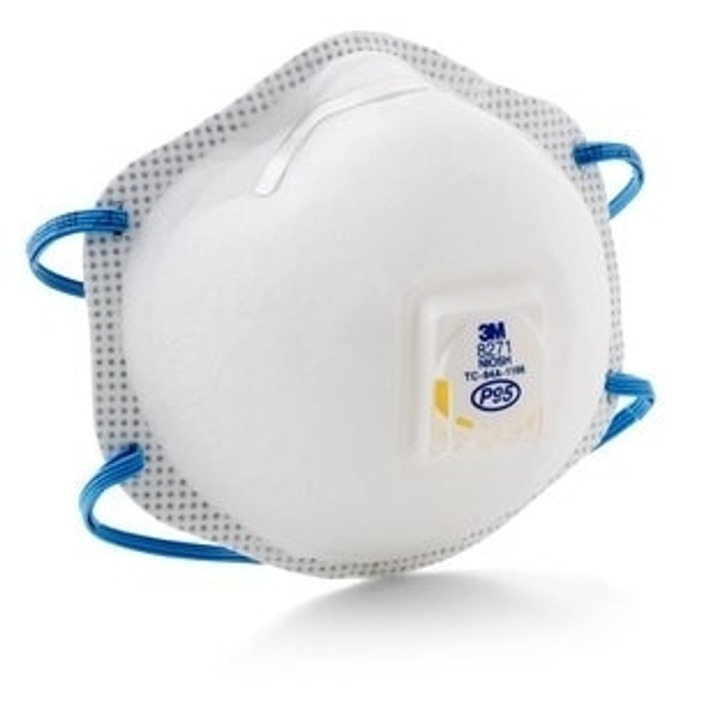 3M 8271 P95 Disposable Respirator, front