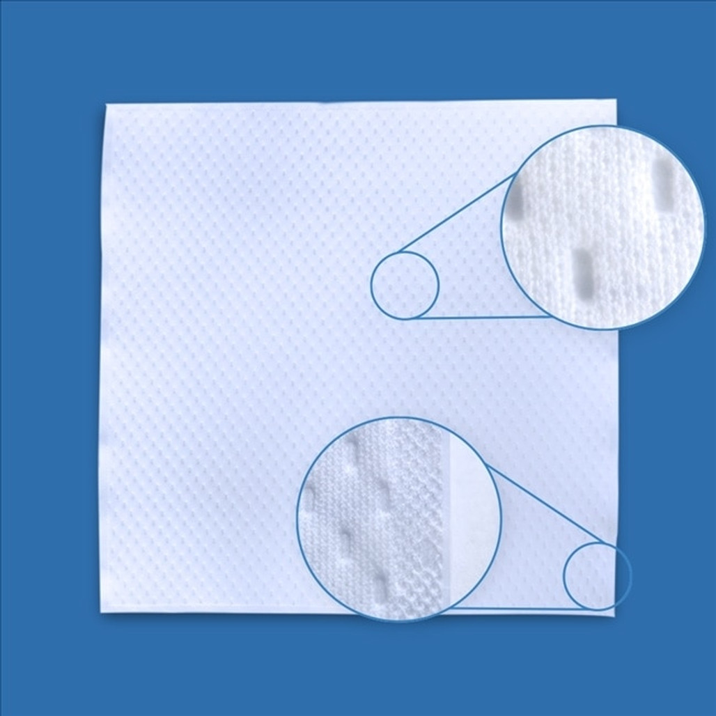 """Get TekniClean 2-Ply Quilted Polyester Border Sealed Cleanroom Wiper, 9 x 9"""", 8 bags/cs TC3PB3-99 at Harmony"""