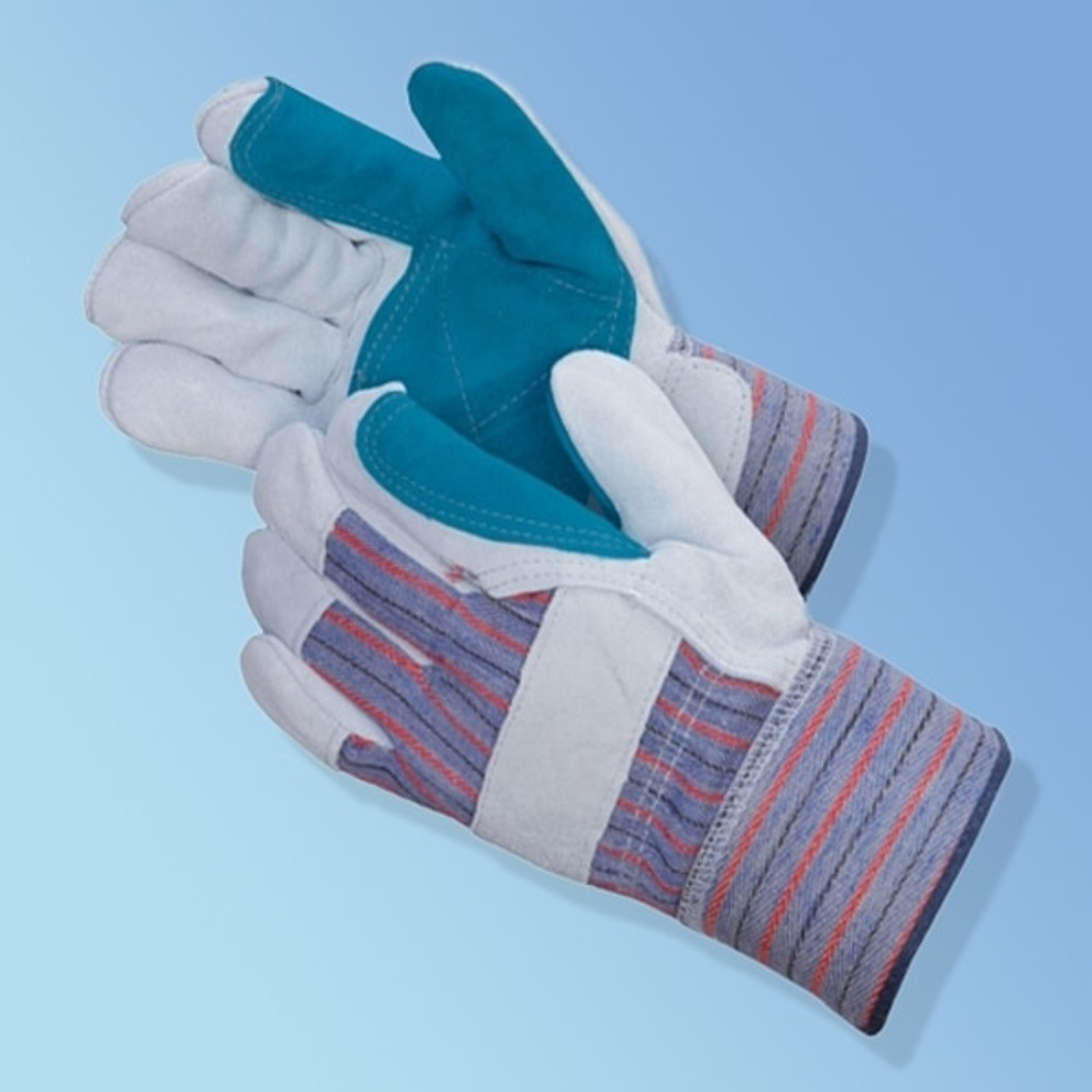 Get Leather Green Double Palm Glove, 12/pr LIB3581SP at Harmony