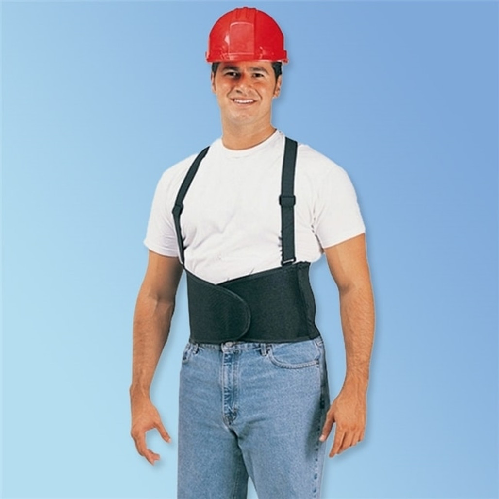 Get Durawear Back Support Belt with Adjustable Suspenders, Black LB1908 at Harmony