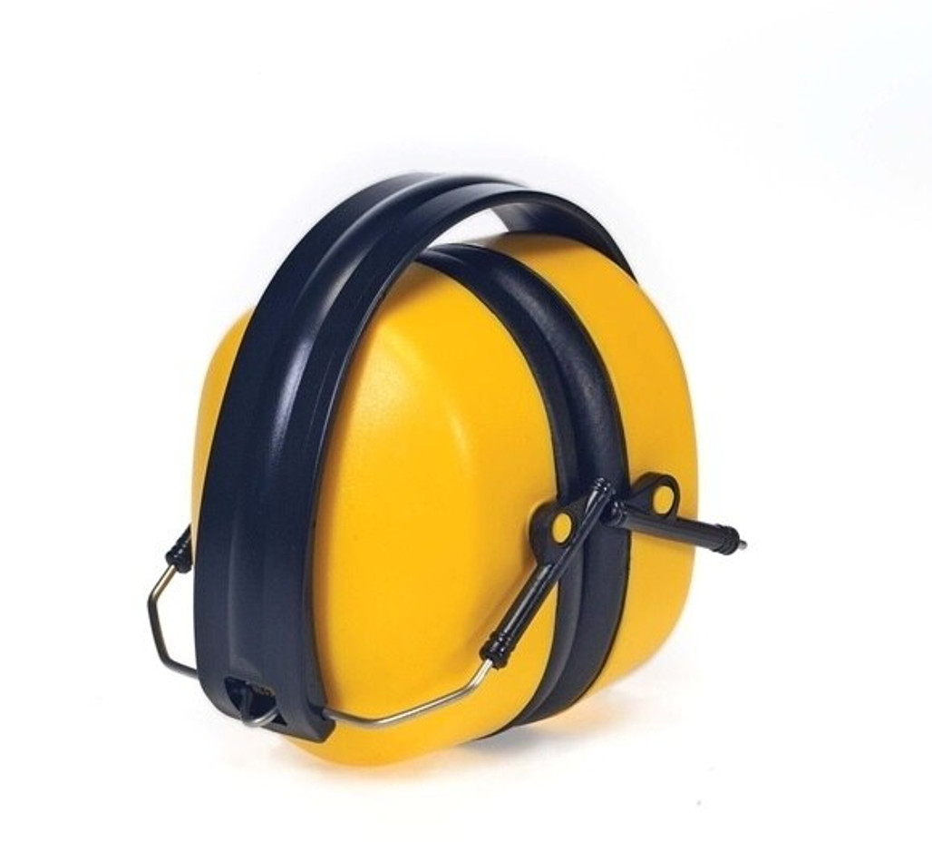 Foldable Ear Muffs, NRR 34, Yellow, each | Harmony Lab and Safety Supplies