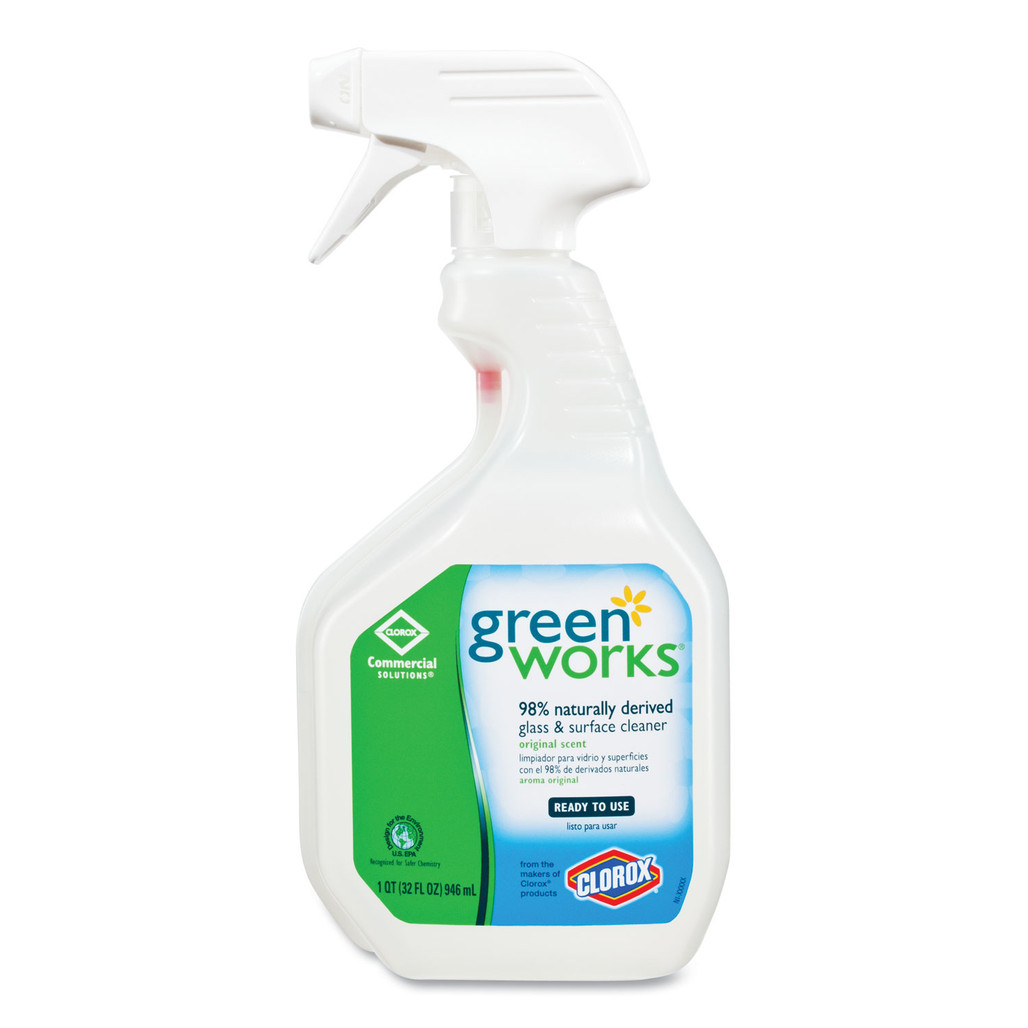 Green Works Glass & Surface Cleaner, 32 oz., 12/case   Harmony Lab and Safety Supplies