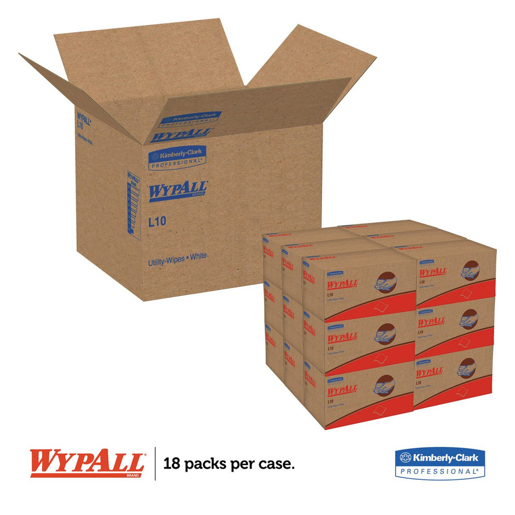 Wypall L10 Sani-Prep Dairy Towels, 9 x 10.3 in.,  1980/case | Harmony Lab and Safety Supplies