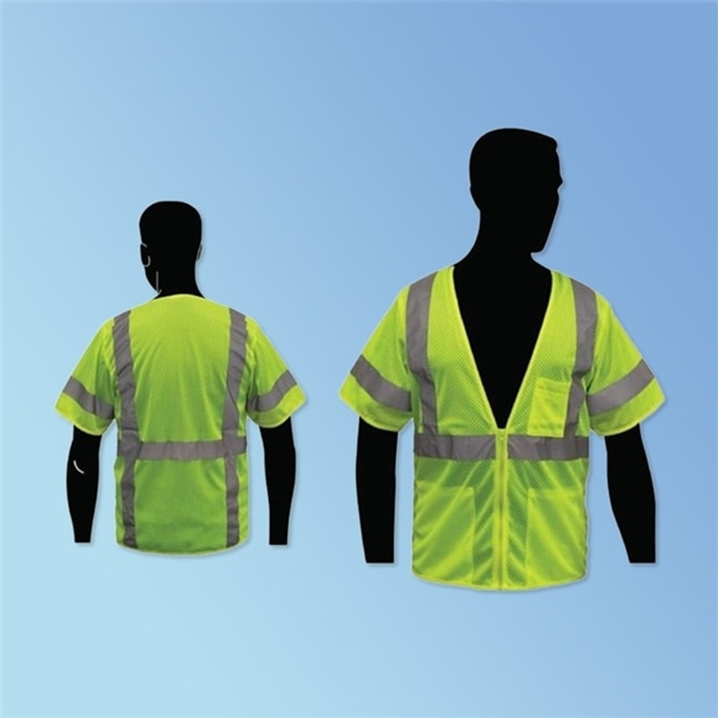 Get HivizGard Class 3 Mesh Safety Vest with Sleeves, Lime Green LB16004G at Harmony