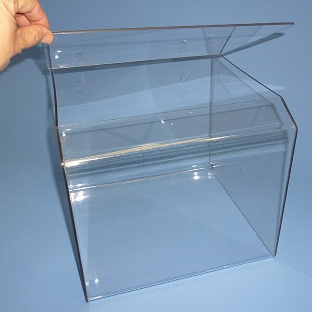 """Get Container Bin with top loading hinged lid, 11"""", ea XAK-260 at Harmony"""