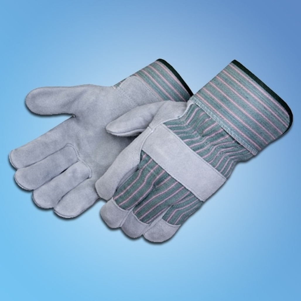 Get Leather Palm Gloves with Rubberized Safety Cuff, 12 pair LIB3260SQ at Harmony