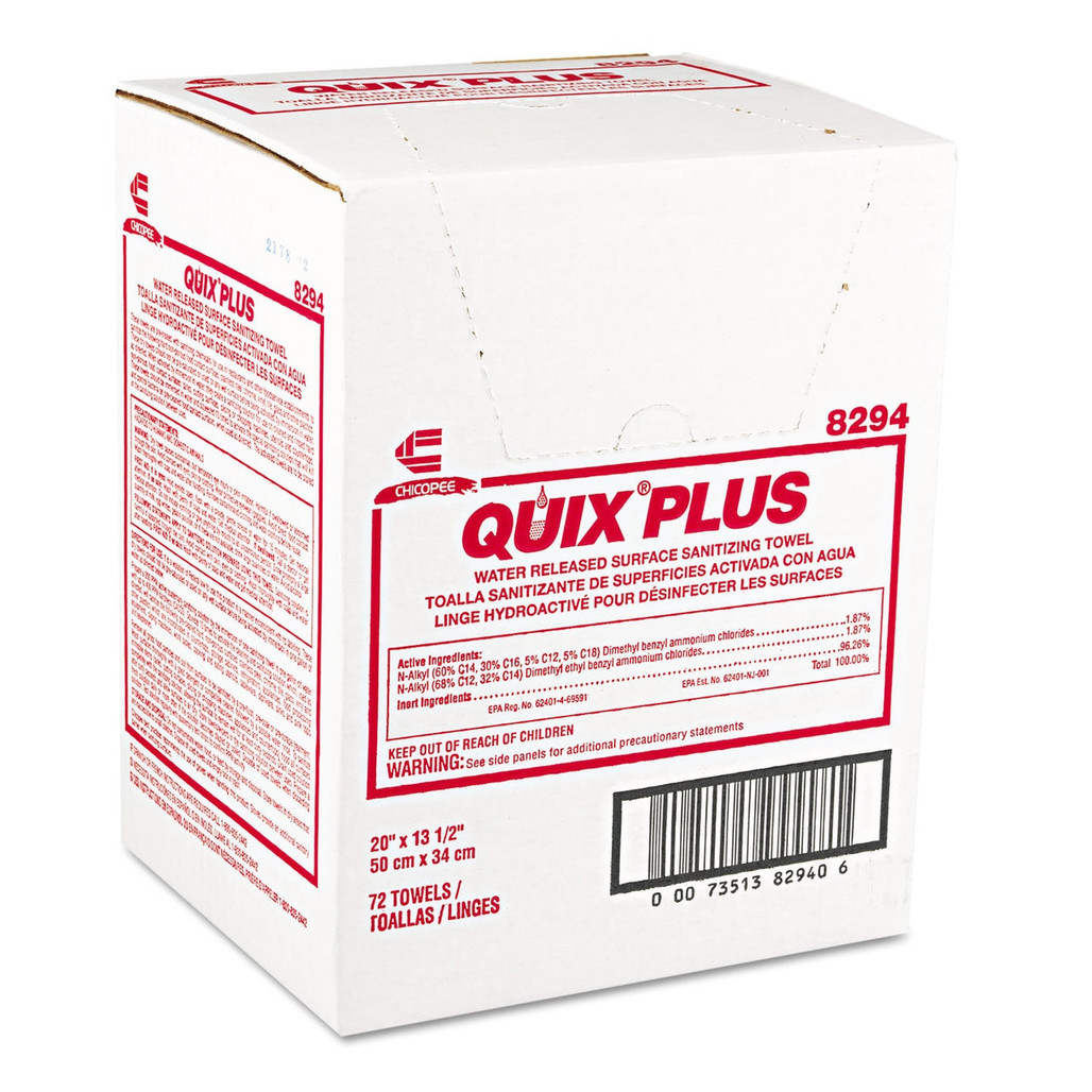 Quix Plus Sanitizing Foodservice Towels, 13.5 x 20 in., 72/case | Harmony Lab and Safety Supplies