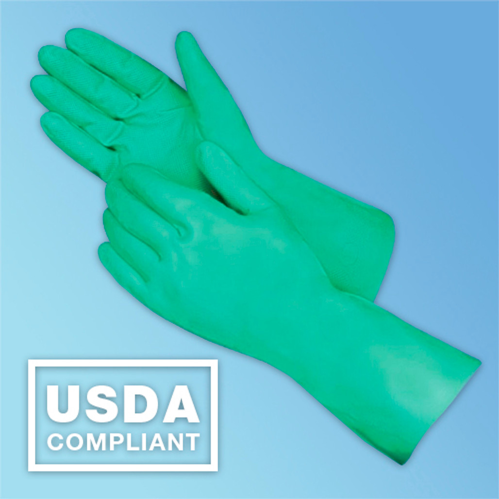 Nitrile Flock Lined Glove USDA Compliant at Harmony