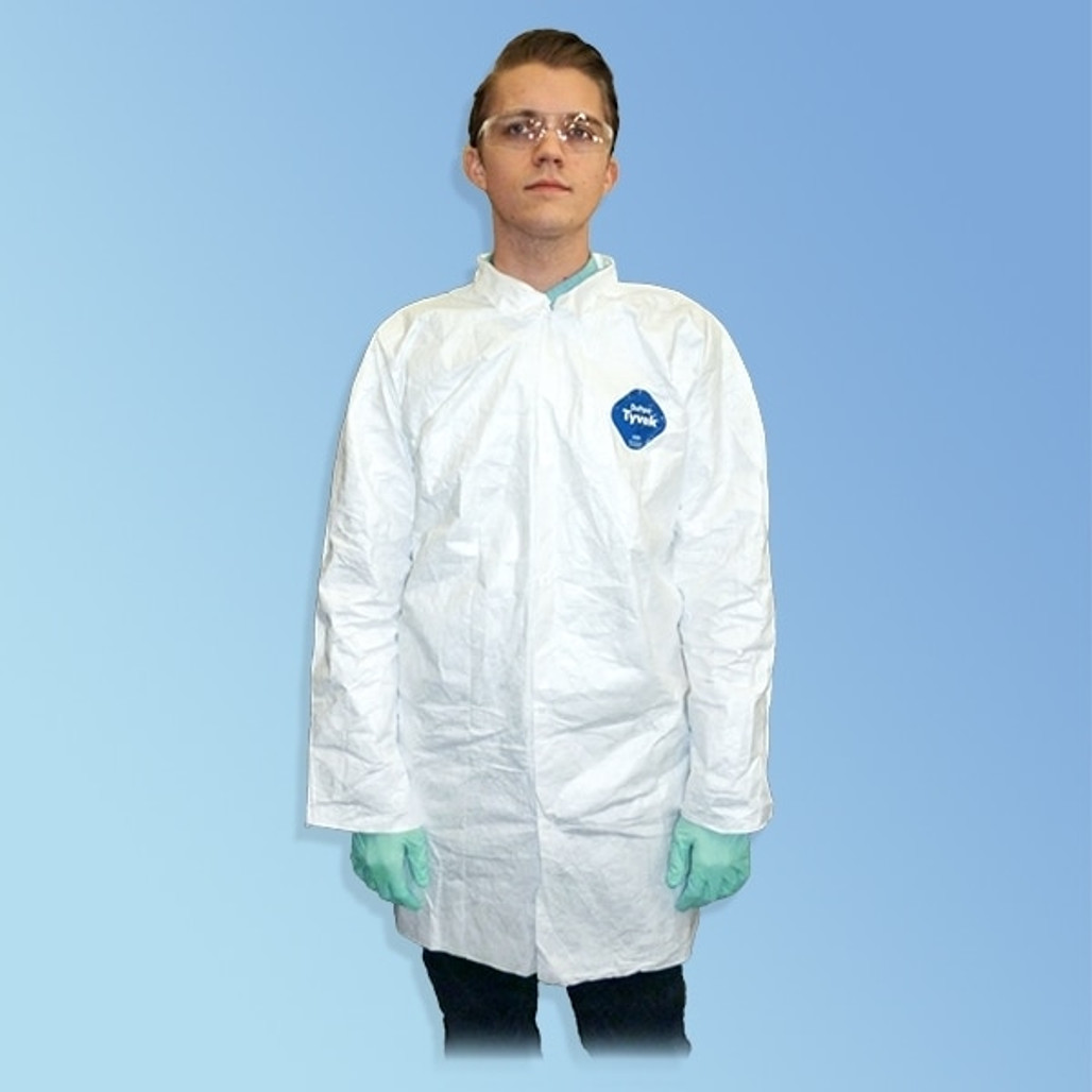 Get Tyvek TY210S Frocks, Open Wrist, Snap Front, 30/cs TY210S at Harmony