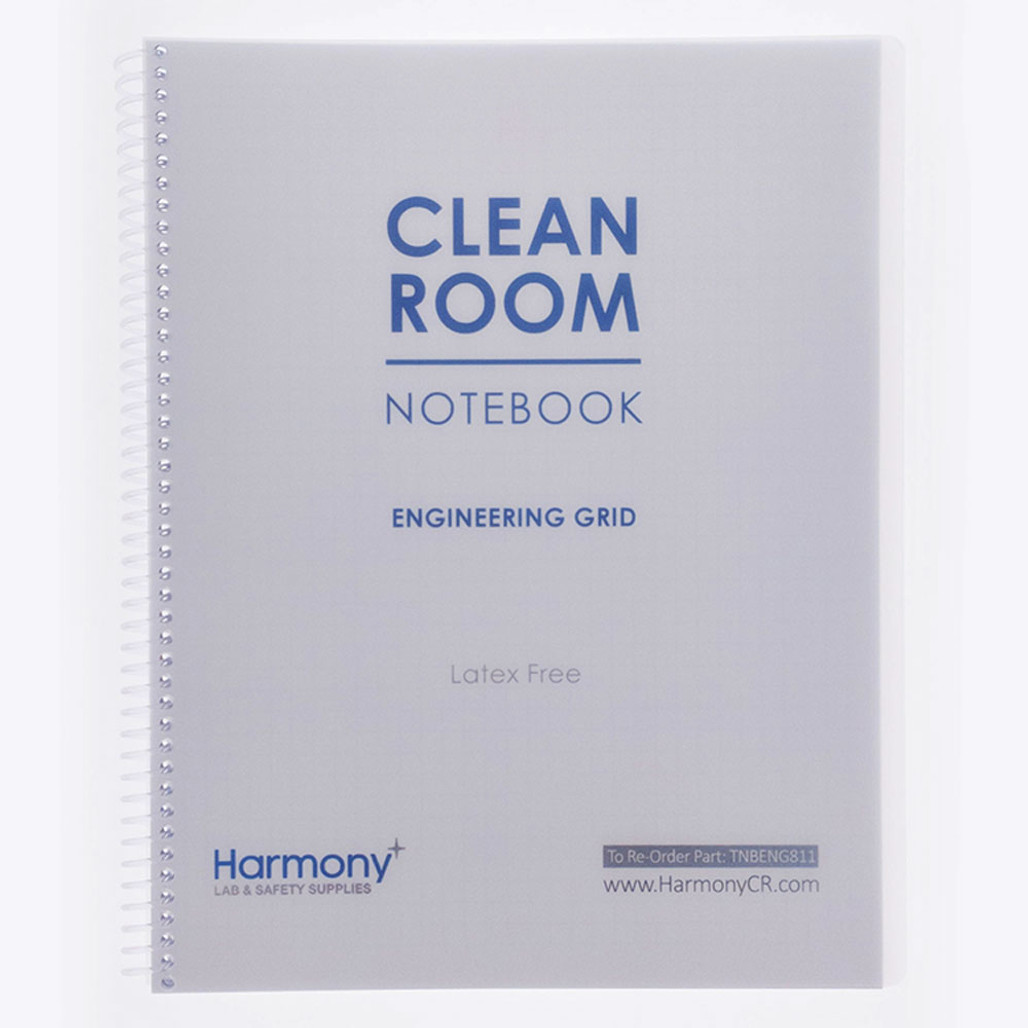 Cleanroom Notebook, Engineering Grid - Harmony Lab & Safety Supplies