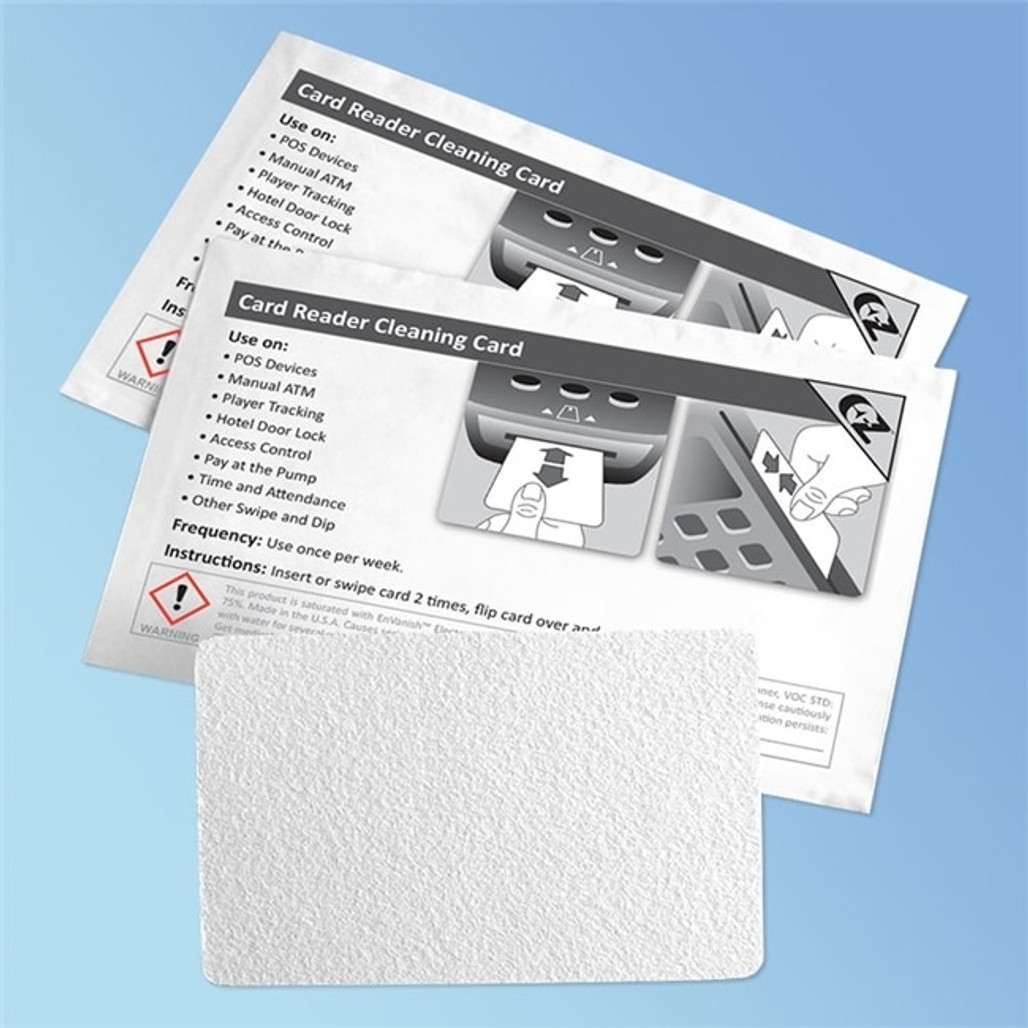 Card Reader Cleaning Cards CR80, 50/box | Harmony Lab and Safety Supplies