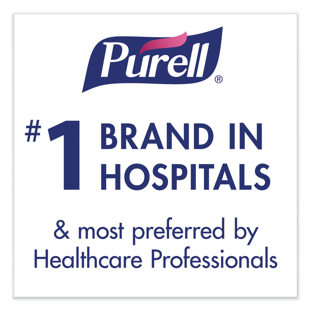 Purell is the #1 hospital brand sanitizer