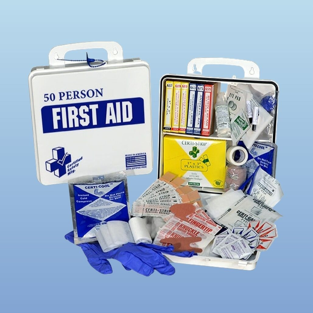Certified Safety K610-033  First Aid Kit, 50 Person