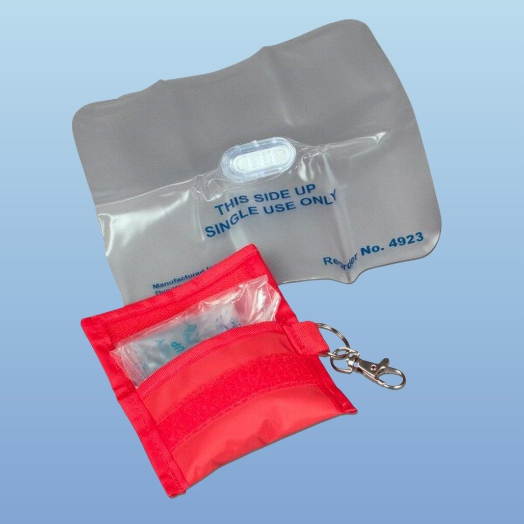 CPR Face Shields with Soft Case, Dynarex 4923