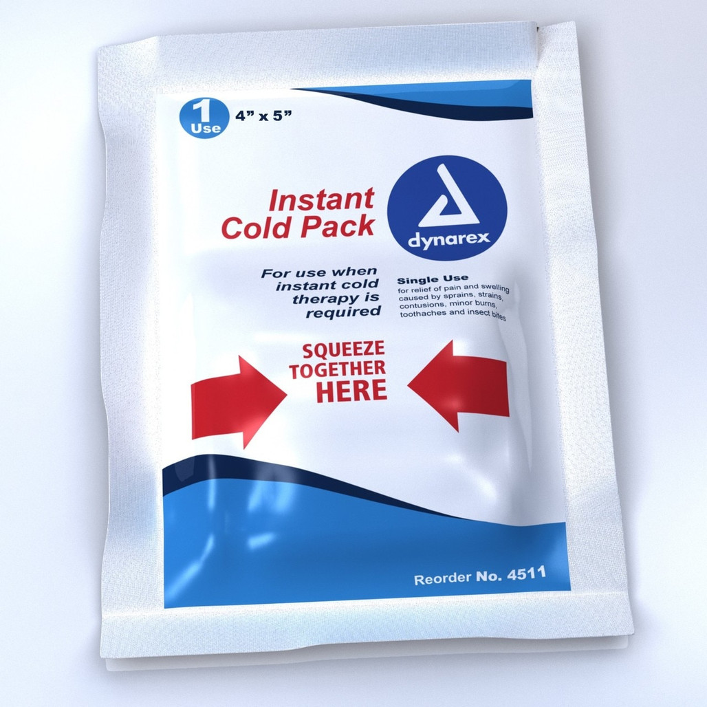 """Get Cold Packs, 4"""" x 5"""", Dynarex 4511 at Harmony"""