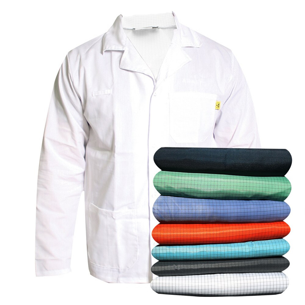Get Cleanroom ESD Lab Coats, Snap Cuff, Blue, available in multiple colors at Harmony
